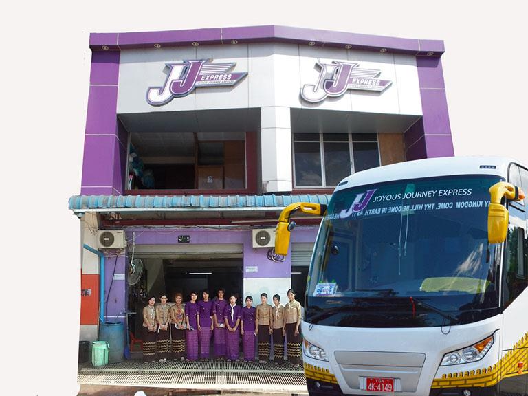 JJExpress Bus Gate in Aung Mingalar Bus Stsation, Yangon